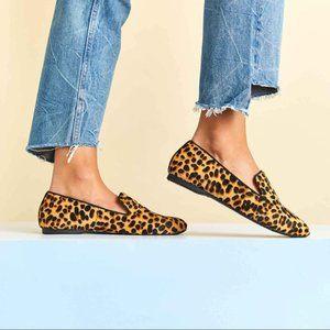 Birdies | The Starling Cheetah Calf Hair Loafer Flats | 7